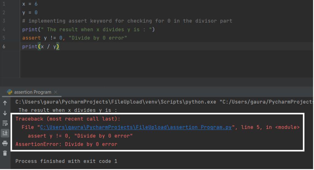 Assert Python
