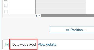 Data was saved