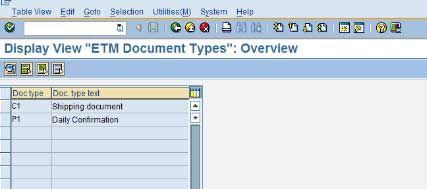 ETM Document Types