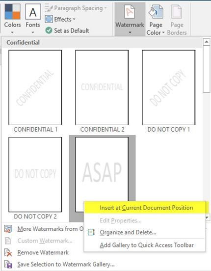 Insert at Current Document Position