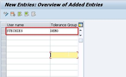 Assign Tolerance Group