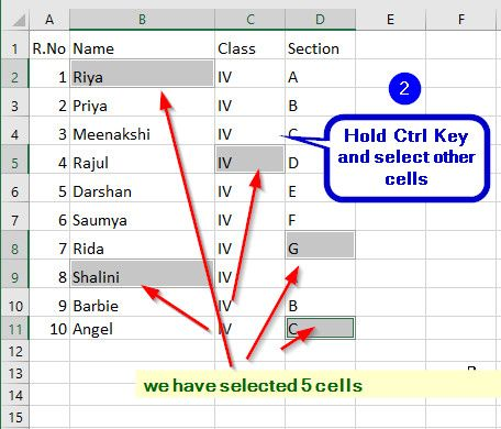 Select (or Deselect) Multiple Non-Adjacent Cell