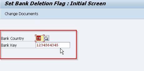 SAP bank deletion flag
