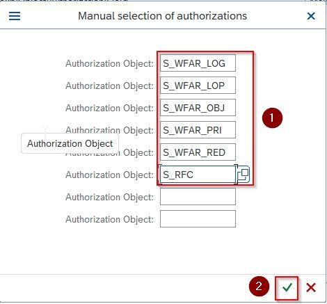 Authorization object