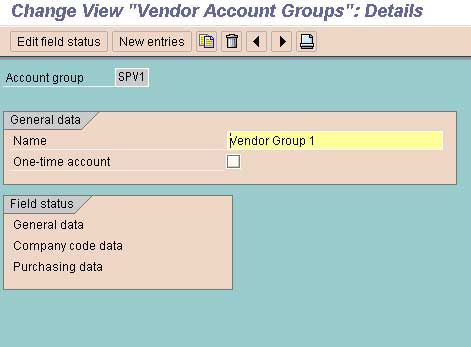 Define Account Groups with Screen Layout