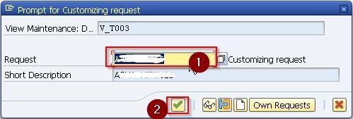 Customization Request Code