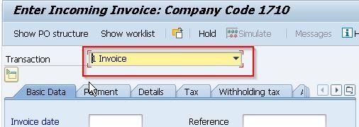 Choose Invoice