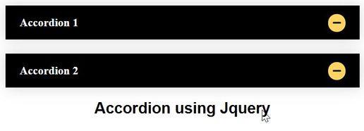 Accordion using Jquery