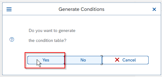 Click Yes button