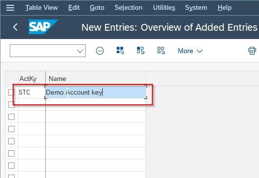 Account key id