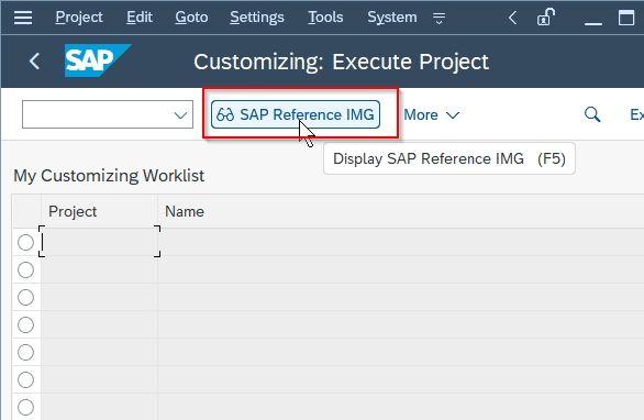 SAP Referecnce IMG|