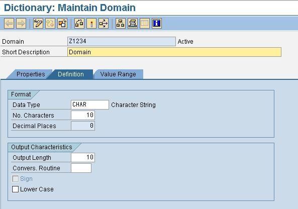 Abap Domain Element