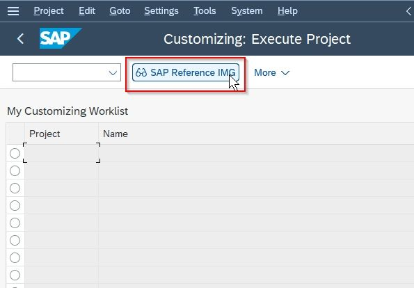 SAP IMG