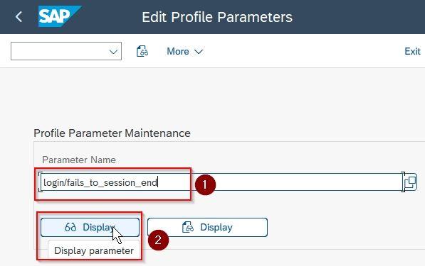 Display parameter