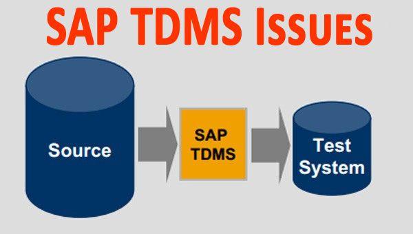 SAP-TDMS-Issues