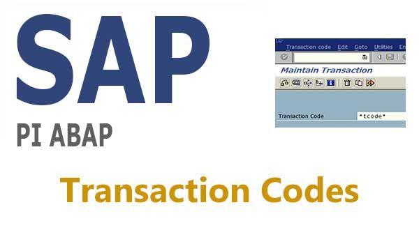SAP PI & ABAP Tcodes