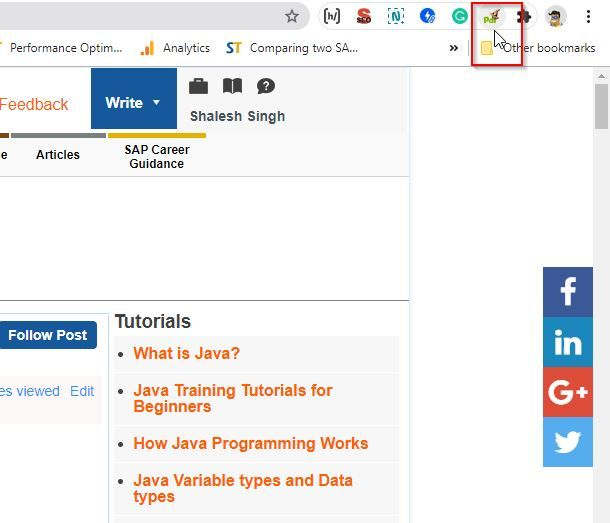 Click PRF Maze Extension to Save Webpage as PDF