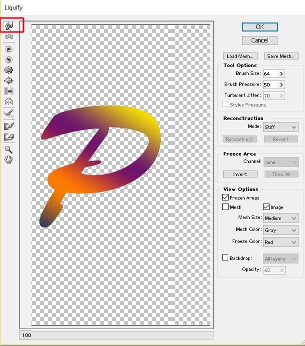 Liquefy Filter Window Photoshop