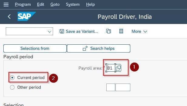 payroll area
