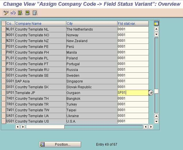 Field Status Variants