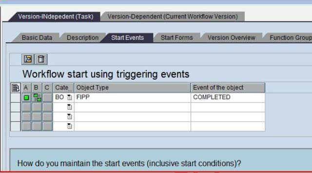 Workflow Start Using Triggering Events