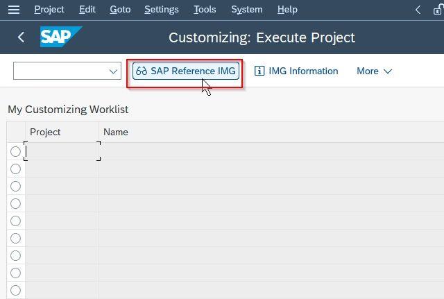 SAP Reference IMG