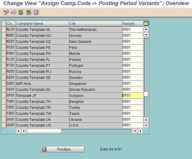 Assign variants to company code