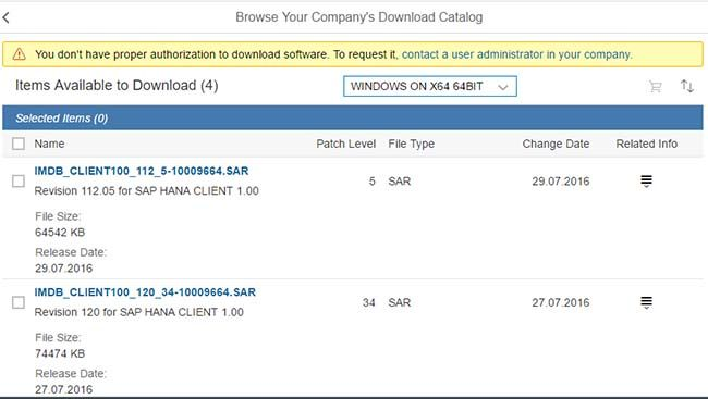 Download HANA Client