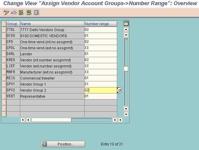 Assign Number Range to Vendor