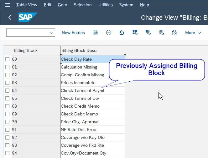 Previously created blocking reason