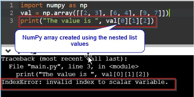 invalid index to scalar variable error