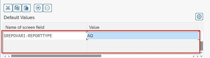 default values