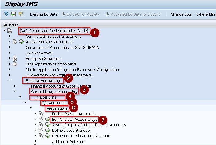SAP menu path
