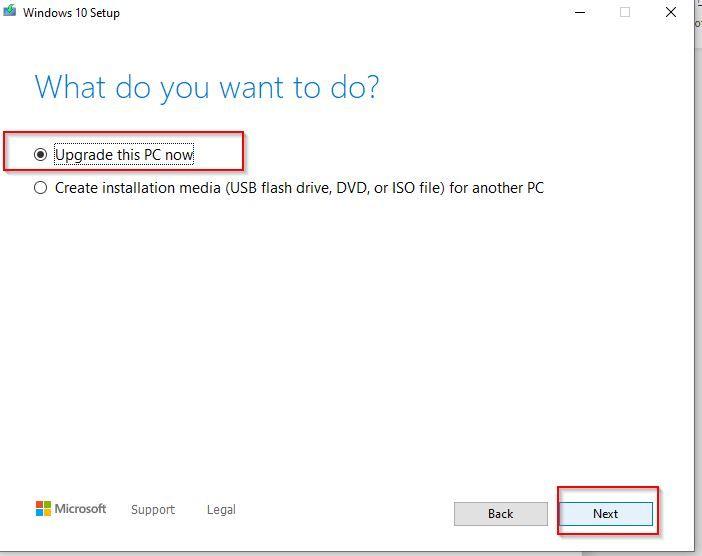 Repair Installation of Windows OS