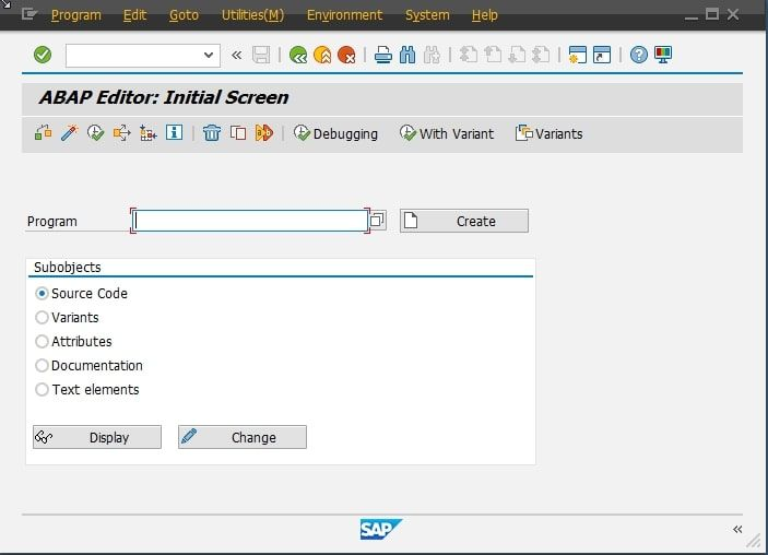 SAP GUI Example