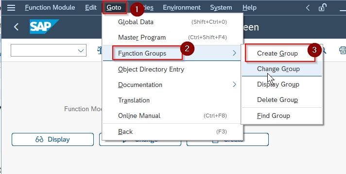 Create function group
