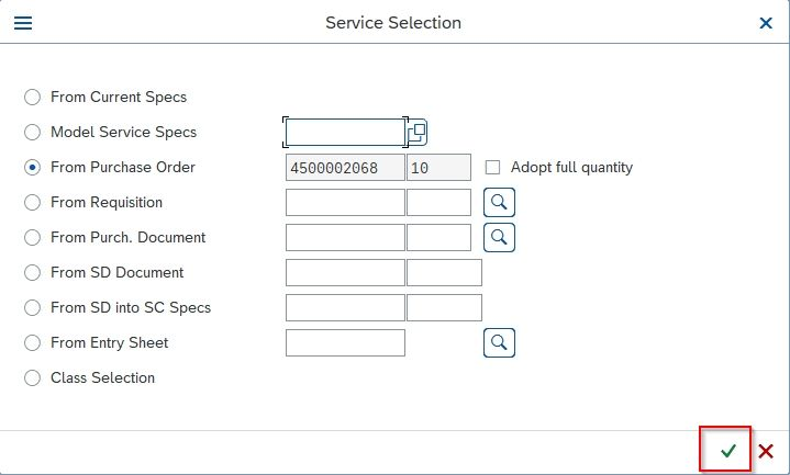 Service Selection
