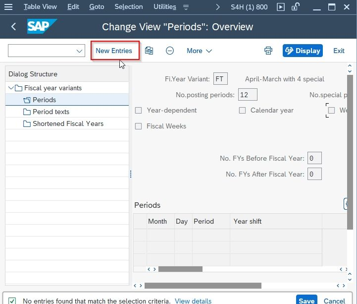 """Change View """"Periods"""": Overview"""