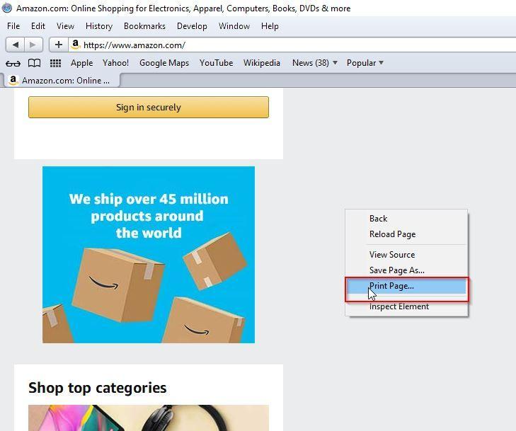 Save Webpage as PDF on Safari