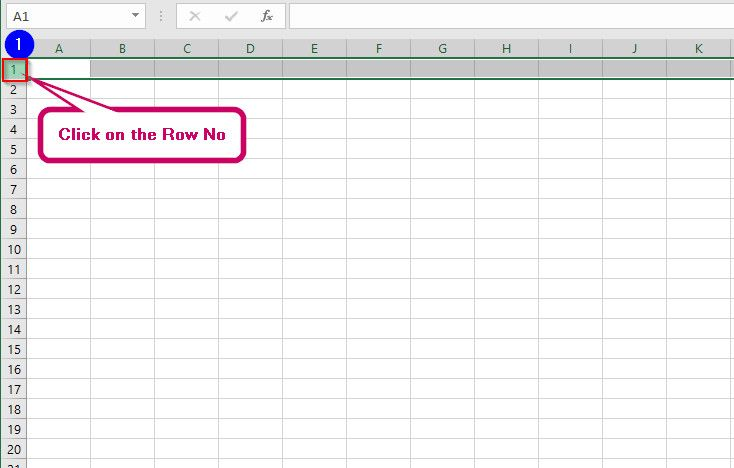 Select an Entire/Multiple Row of Cells