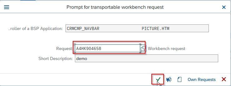 Workbench request