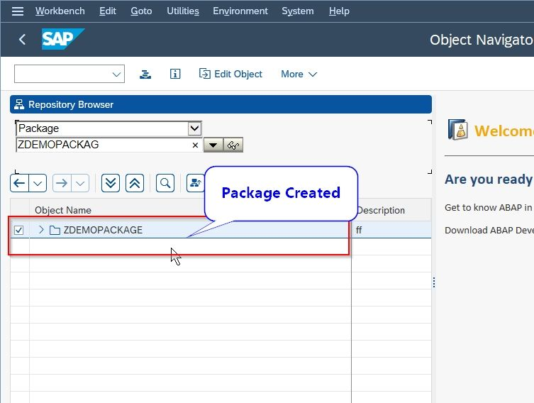 New package created