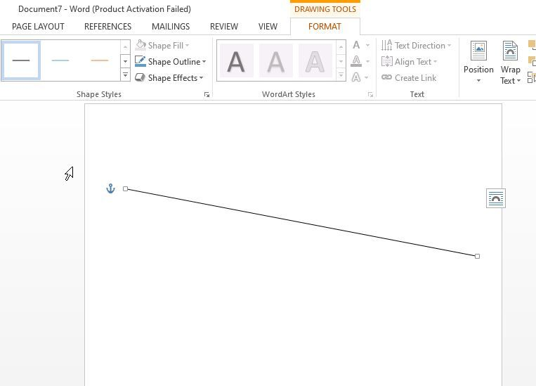 draw a line in ms word