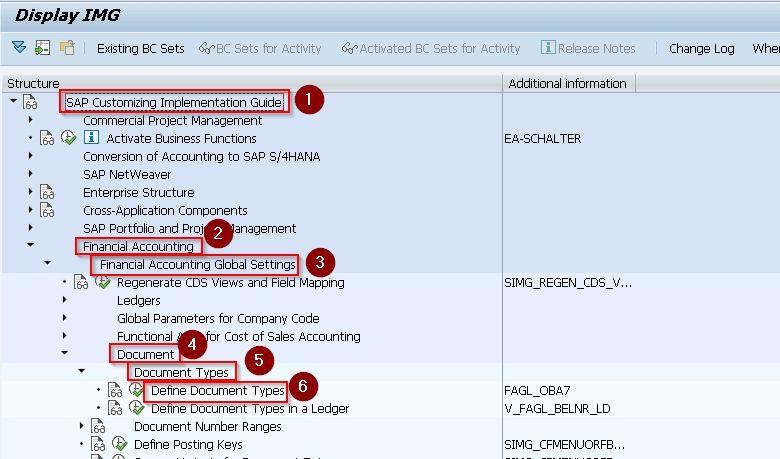 SAP Navigation Menu