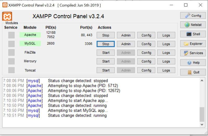 Solution for Error: MySQL shutdown unexpectedly inXAMPP