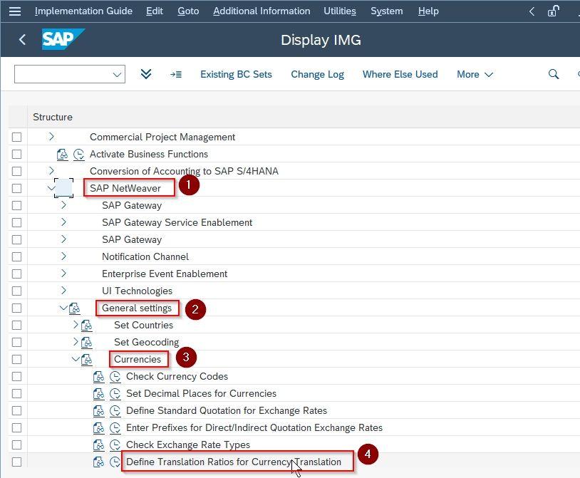 SAP IMG Path