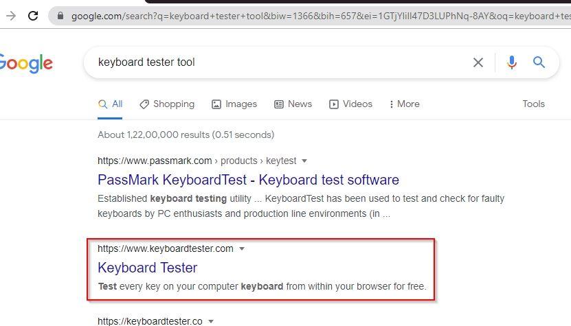 Keyboard tester