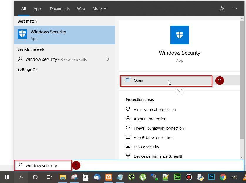 open window security