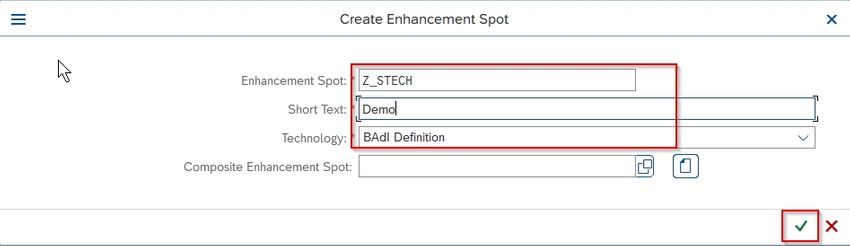 Enhancenment Spot