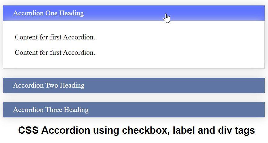Accordion checkbox div label